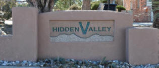 Hidden Valley Sign